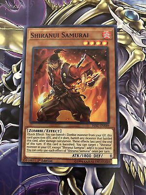 x3 Shiranui Samurai - HISU-EN049 - Super Rare - 1st Edition Near Mint In Hand