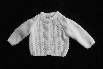 Baby clothes UNISEX GIRL BOY newborn 0-1m NEW! soft, white cardigan SEE SHOP!