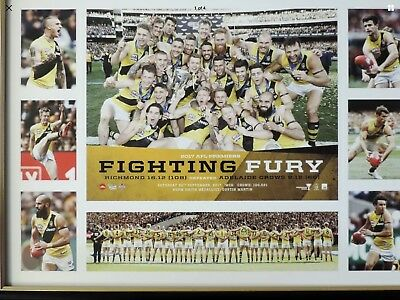 Afl Richmond Tigers Premiership Poster 2017 Trent Cotchin  Dusty Martin