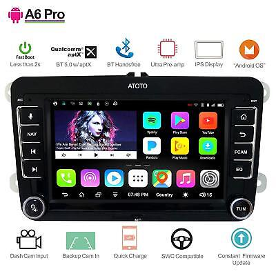 ATOTO A6 Pro Android Car GPS Stereo for VW /A6YVW721PRB /2x Bluetooth BT5.0 aptX