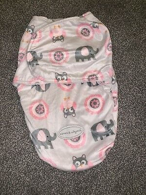 Blankets And Beyond Swaddle Blanket Baby 0-3 Months White