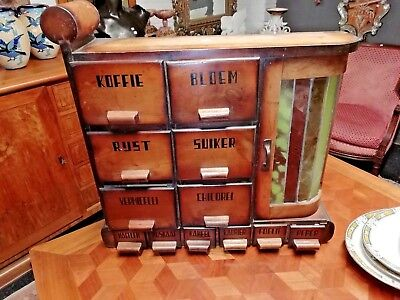 Very nice wall cabinet for spices, Art Deco style circa 1950's