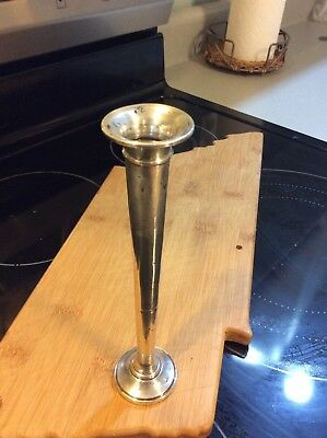"""vintage Fisher Weighted Sterling Silver 7.5"""" Bud Flower Vase Very Rare # 697 EC"""