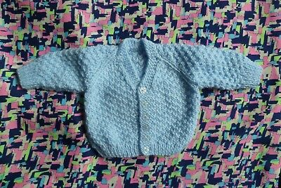 Baby clothes BOY newborn 0-1m NEW! supersoft, blue patterned cardigan SEE SHOP!