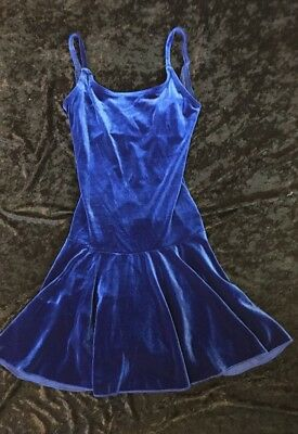 Body Wrappers Style 729 Adult Small Royal Blue Velvet Dance Skake Circle Dress