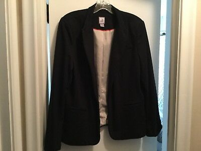 JCP-Navy Casual Roll Up Sleeves Blazer Jacket-XL