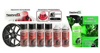 Alloy Wheel Paint Spray SPEED GLOSS BLACK + CLEAR LACQUER + Alloy Wheel Cleaner