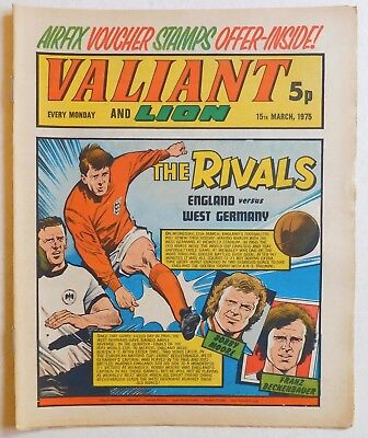 VALIANT and LION Comic - 15th March 1975