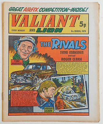VALIANT and LION Comic - 8th March 1975