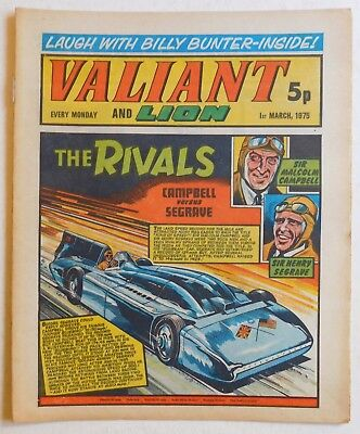 VALIANT and LION Comic - 1st March 1975