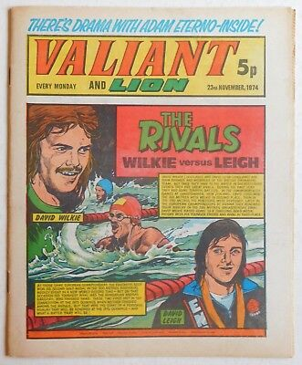 VALIANT and LION Comic - 23rd November 1974