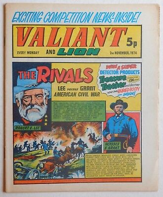 VALIANT and LION Comic - 2nd November 1974
