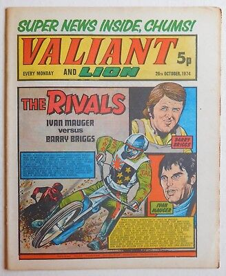 VALIANT and LION Comic - 26th October 1974