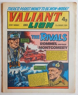 VALIANT and LION Comic - 17th August 1974