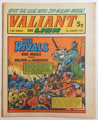 VALIANT and LION Comic - 25th January 1975