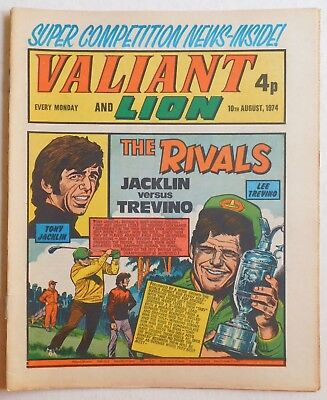 VALIANT and LION Comic - 10th August 1974