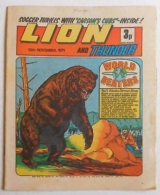 LION and THUNDER Comic - 13th November 1971