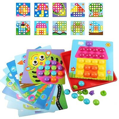 Gifts For Kids Educational Toys Mosaic Kit Toddler Boy Girls New Color Matching