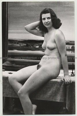 Nude Woman On Dressing Table (Vintage Photo PC Ludwig Geier ~1930s/1940s)