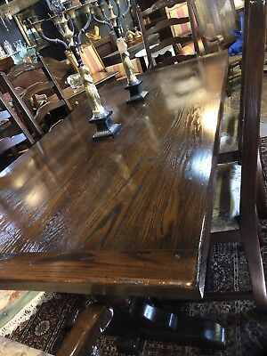 Antique Style Refectory Table And Six Chairs