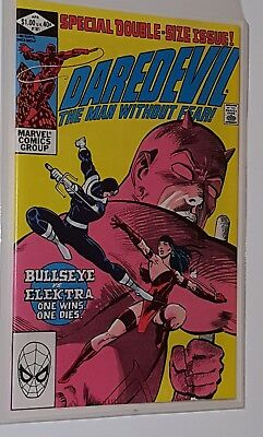 Daredevil 181 The Death of Elektra  Very Fine Plus in a Mylar Bag.