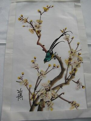Chinese picture - paint on fabric, unmounted