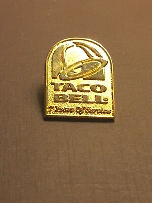 Taco Bell 7 Years of Service Hat Pin
