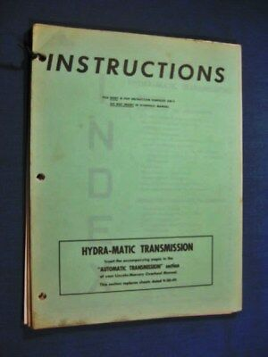 Lincoln Mercury Automatic Transmission Repair Manual 1950