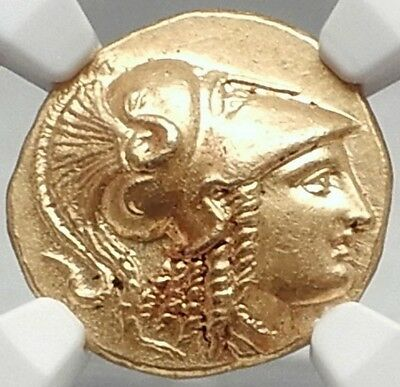 ALEXANDER III the GREAT 323 B.C. Gold Stater Authentic Ancient Greek Coin NGC MS