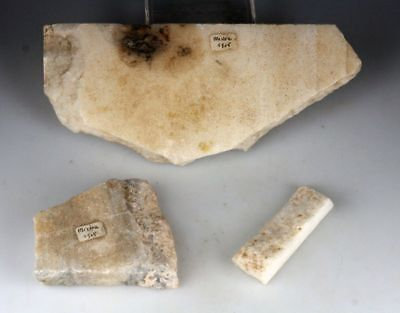 *sc*lot Of 3 Byzantine Marble Fragments, Mistra, Peloponnes!