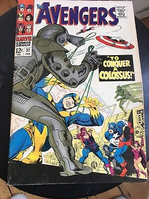 Avengers No37 Silver Age Marvel