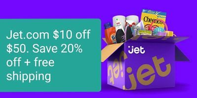Jet.com Promo Code Coupon $10 off $50 (New Account Only, CRAZY DISCOUNT