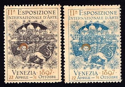 Italy 1897 Cinderella Exposition Poster stamps MH
