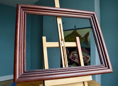 """SUPERB VINTAGE PICTURE FRAME 14"""" x 10.75"""" REBATE MAHOGANY STYLE SOLID WOOD"""