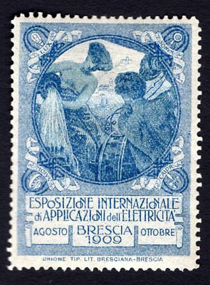 Italy 1909 Cinderella Exposition Poster stamp MH