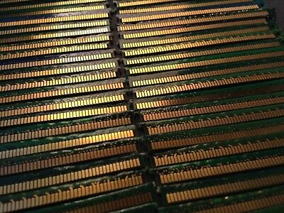 Lot Of 100 Pieces Memory Only Server Ram Gold Fingers For Scrap Gold Recovery