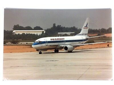 Vintage Piedmont Airlines Boeing 737 24x16 Photograph 1988 Signed Aviation