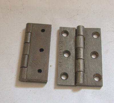 Reclaimed pair of Victorian cast iron 3 inch hinges