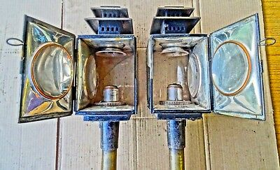 Victorian Joseph Cockshoot Of Manchester Carriage Coach Lamps Lanterns Barn Find