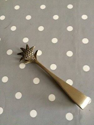 Vintage Silver EPNS Beaded Claw Sugar Tongs