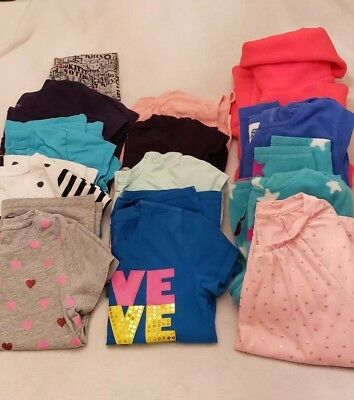 Mixed Lot Of Girls Tops, Tees, & Hoodies & a pr of Leggings - Size 7/8 - 13 Pcs