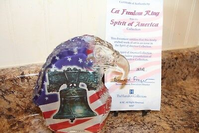2001 The Hamilton Collection Cet F Reedom Ring Spirit Of America