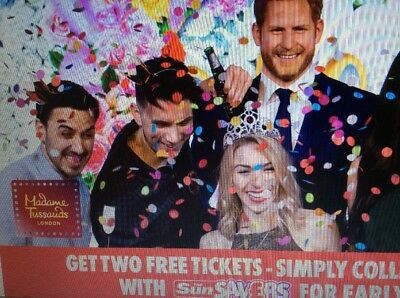 Great Sun Offer 2 X Madame Tussauds Ticket All 10 Codes