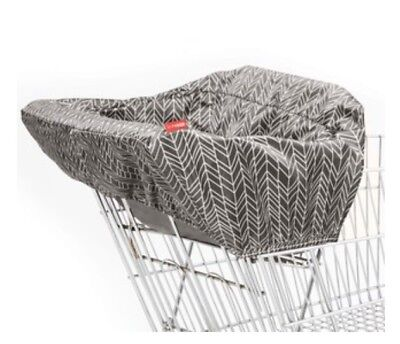Skip Hop Baby Shopping Cart Cover Gray Feather Chevron Highchair Cover Seat