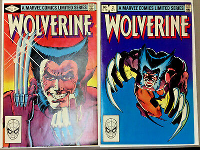 1982 MARVEL WOLVERINE LIMITED Comic SERIES #1 & 2 FRANK MILLER Marvel Comics