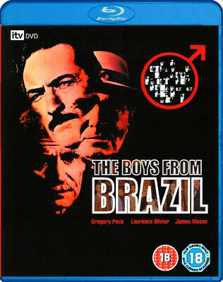 THE BOYS FROM BRAZIL [Blu-ray] (1978) Laurence Olivier, Gregory Peck Nazi Movie