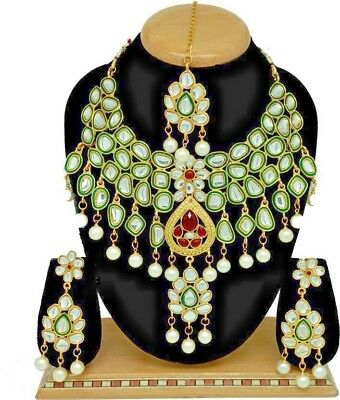 Indian Bollywood Jewelry Wedding Bridal Fashion Necklace Set 3p