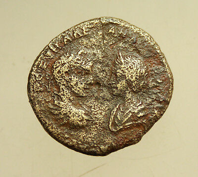 Severus Alexander and Julia Mamaea  AE27mm Marcianopolis Tyche