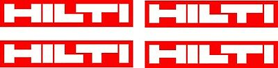Hilti 4 Replacement Stickers, Toolbox, Garage, Tool Decals