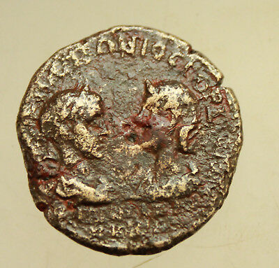 Gordianus III with Tranquillina (238-244). AE 27mm  Tomis.Hygieia Serpent